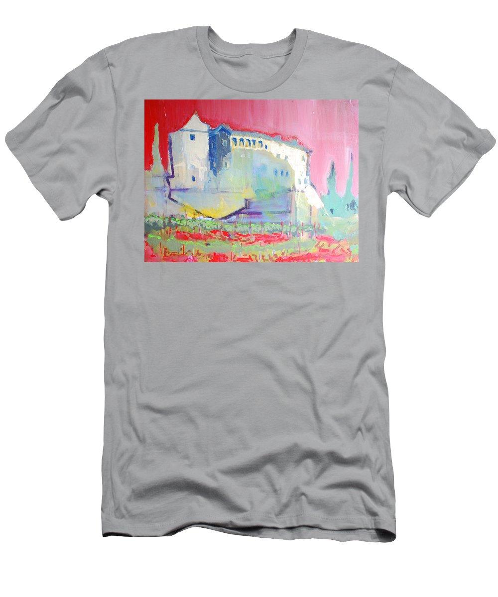 Landscape T-Shirt featuring the painting Castle by Kurt Hausmann
