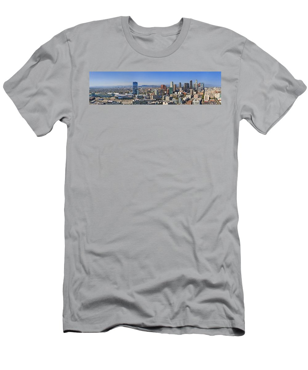Los Angeles Men's T-Shirt (Athletic Fit) featuring the photograph City Of Los Angeles by Kelley King