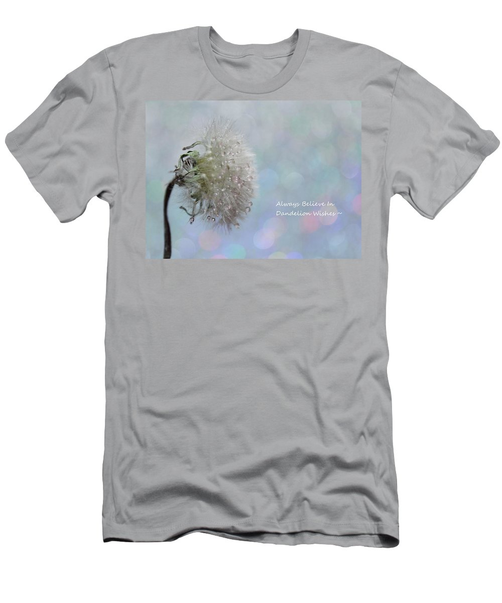 Dandelion Men's T-Shirt (Athletic Fit) featuring the photograph Dandelion Wishes by Krissy Katsimbras