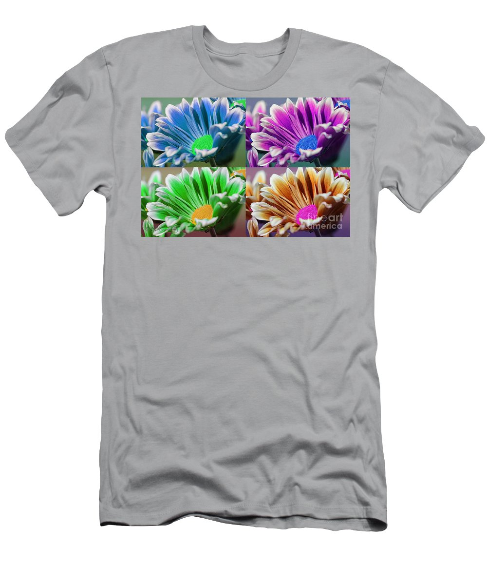 Mccombie Men's T-Shirt (Athletic Fit) featuring the digital art Firmenish Bicolor Pop Art Shades by J McCombie