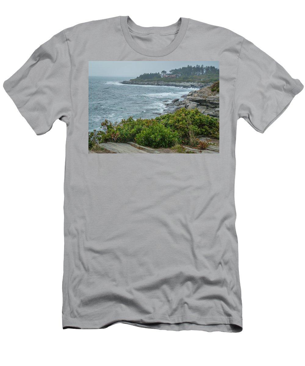 Coast Men's T-Shirt (Athletic Fit) featuring the photograph Foggy Coast by Jane Luxton