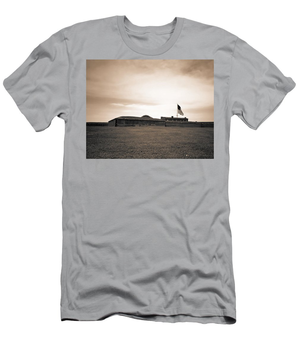 Fort Mchenry Men's T-Shirt (Athletic Fit) featuring the photograph Fort Mchenry by Mountain Dreams