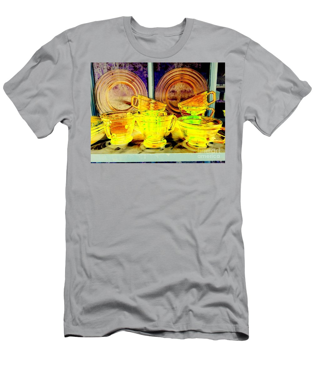 Pop Art Men's T-Shirt (Athletic Fit) featuring the photograph Glassware by Ed Weidman