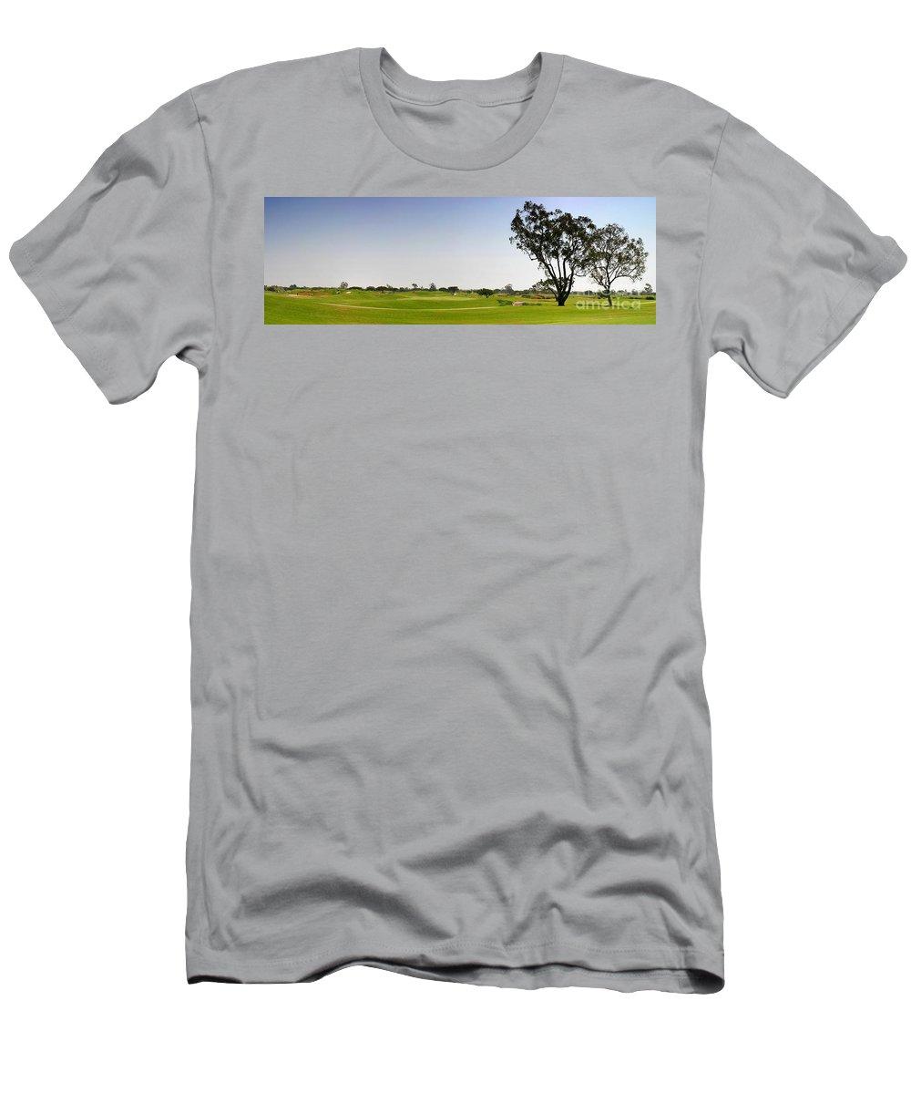 Beautiful Men's T-Shirt (Athletic Fit) featuring the photograph Golf Fairway by Henrik Lehnerer