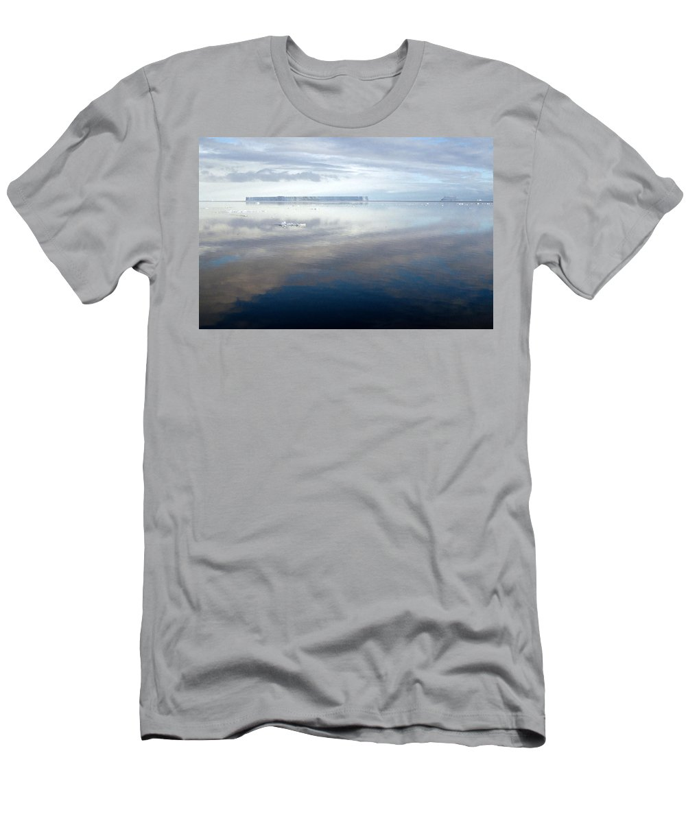 Vast Men's T-Shirt (Athletic Fit) featuring the photograph Iceberg And Polinya In The Ross Sea by Carole-Anne Fooks