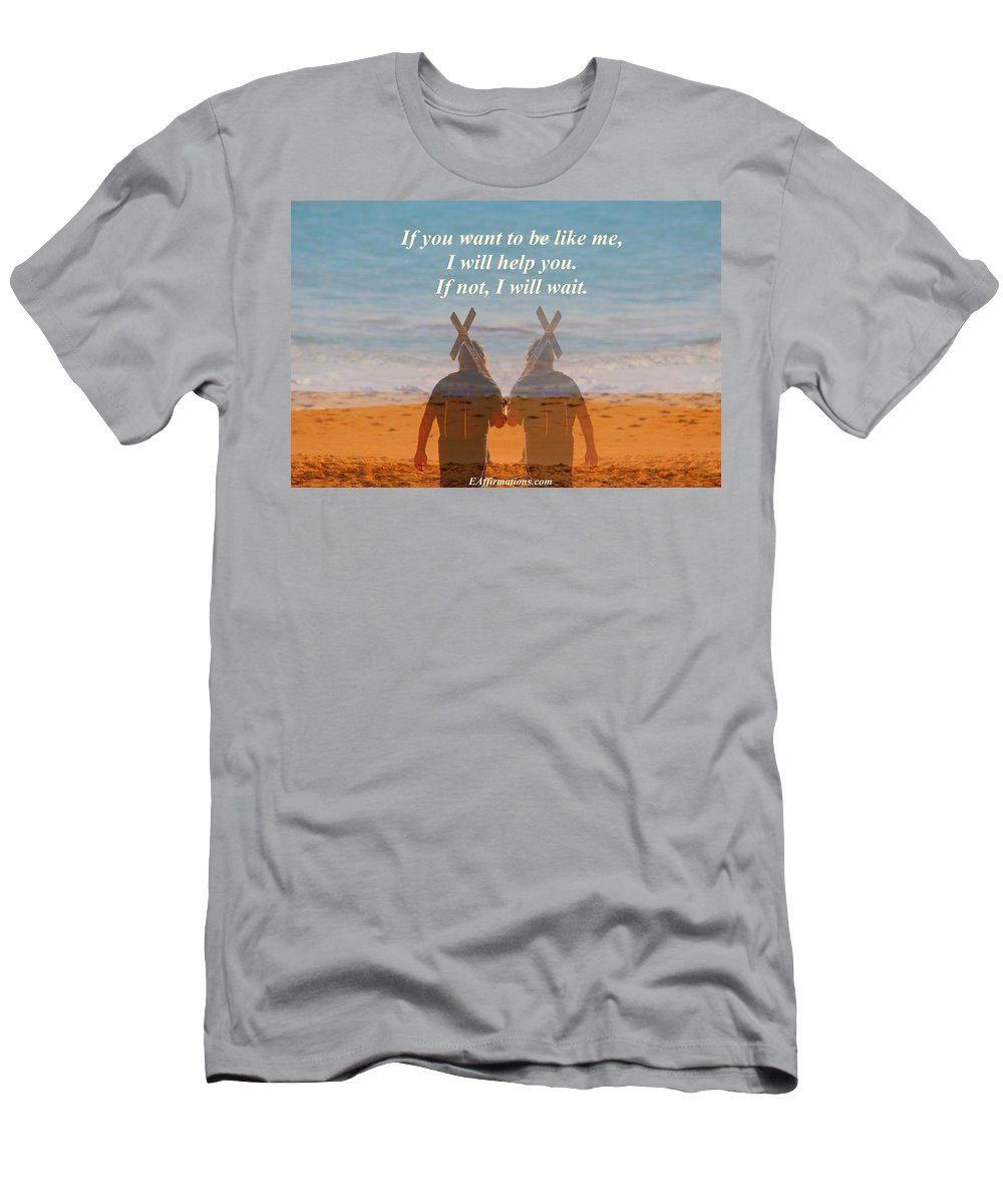 Ocean Men's T-Shirt (Athletic Fit) featuring the photograph If You Want To Be Like Me by Pharaoh Martin
