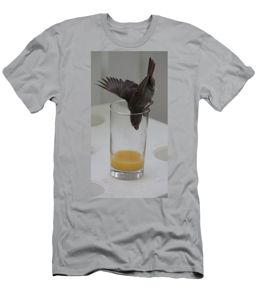 Orange Juice Men's T-Shirt (Athletic Fit) featuring the photograph I'm Going In by Catie Canetti