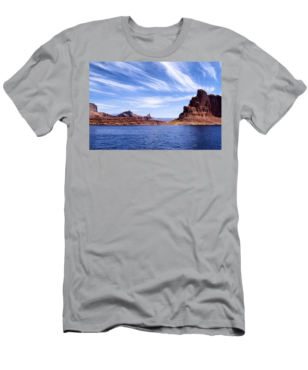 Lake Powell Men's T-Shirt (Athletic Fit) featuring the photograph Lake Powell by Mountain Dreams