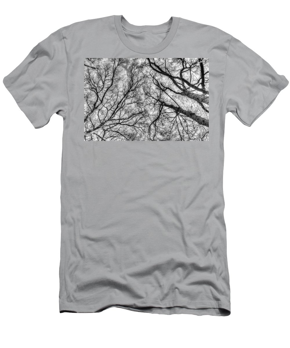 Forest Men's T-Shirt (Athletic Fit) featuring the photograph Monochrome Forest by David Pyatt