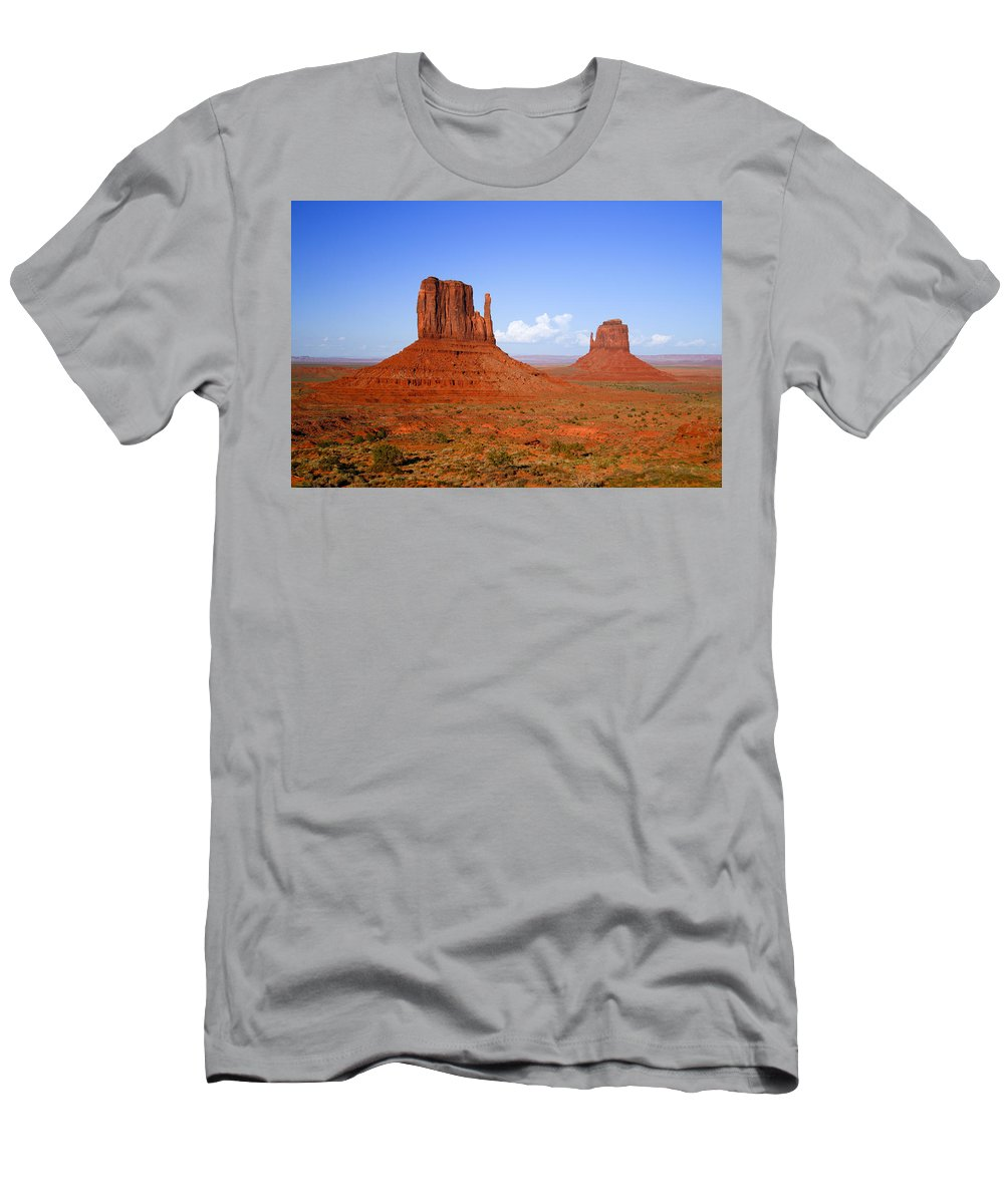 Monument Valley Men's T-Shirt (Athletic Fit) featuring the photograph Monument Valley by Alexey Stiop
