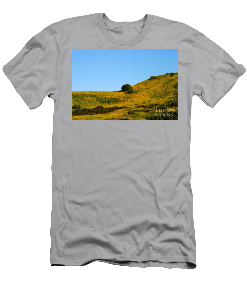 Summer Men's T-Shirt (Athletic Fit) featuring the photograph Mustard Grass by Henrik Lehnerer