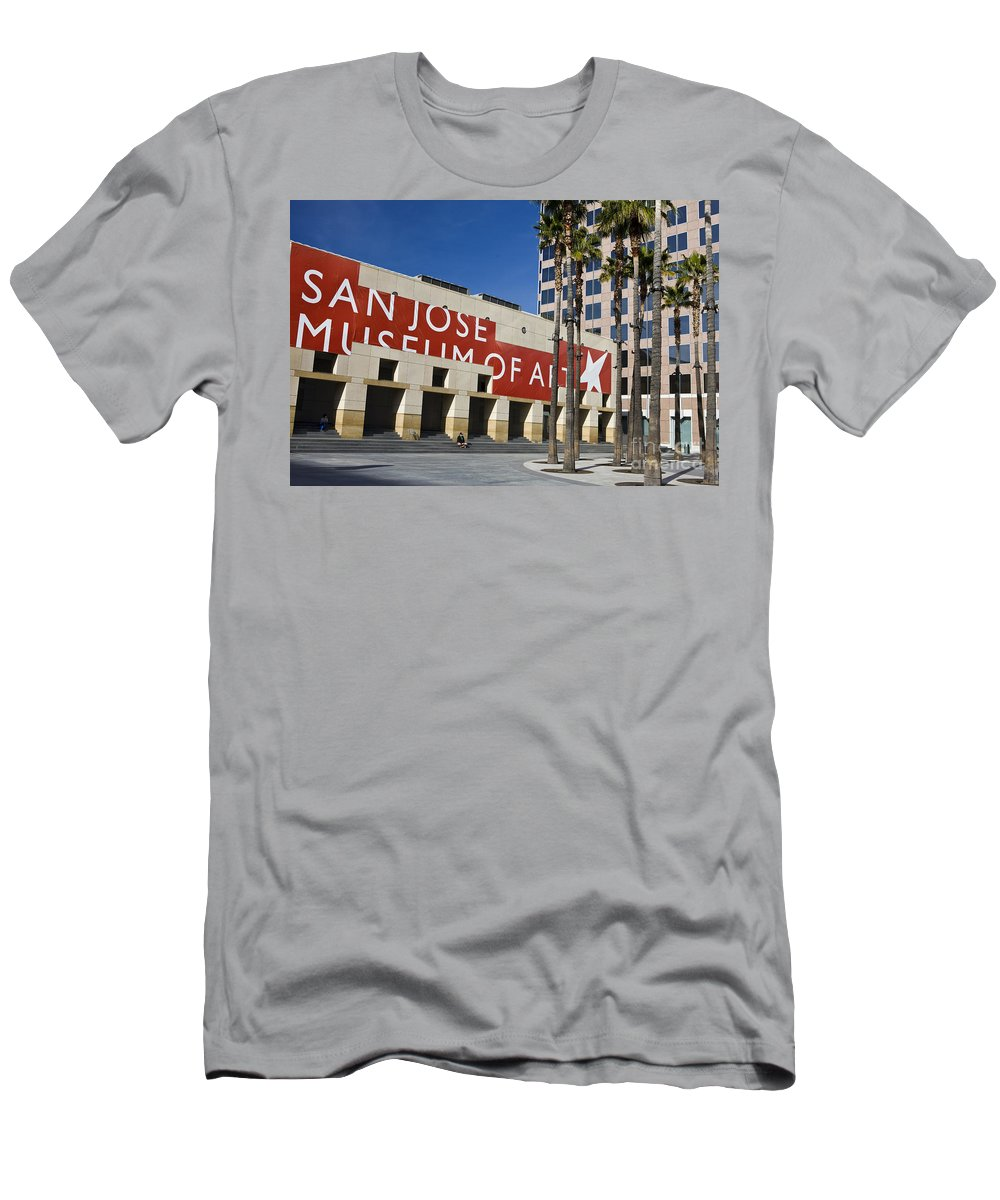 Men's T-Shirt (Athletic Fit) featuring the photograph New Wing Of The San Jose Museum Of Art by Jason O Watson