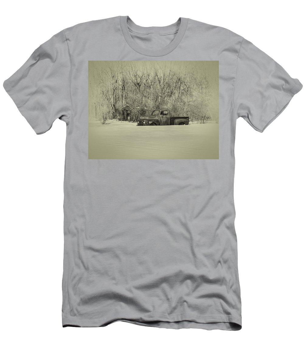 Ford Truck Men's T-Shirt (Athletic Fit) featuring the photograph Old Timer by Thomas Young