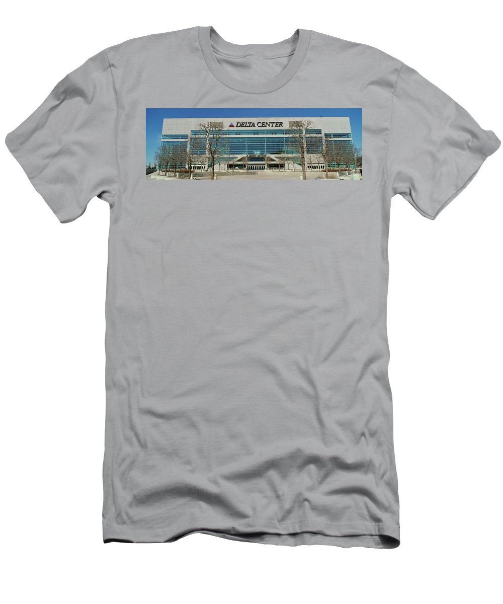 Photography T-Shirt featuring the photograph Panoramic Of Delta Center Building by Panoramic Images