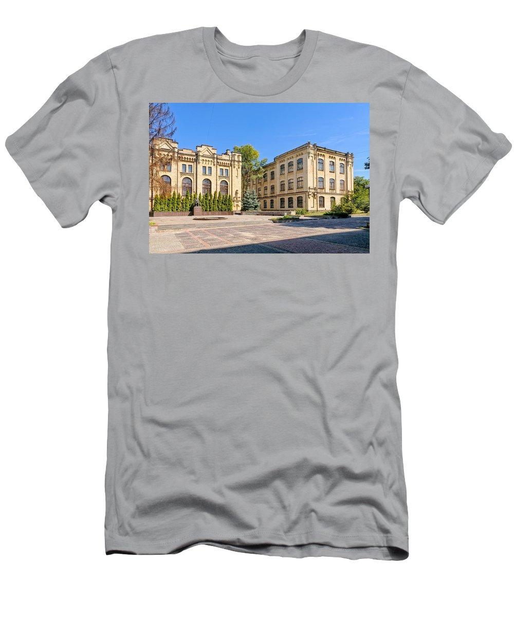 Kiev Men's T-Shirt (Athletic Fit) featuring the photograph Polytechnic Institute Of Kiev by Alain De Maximy