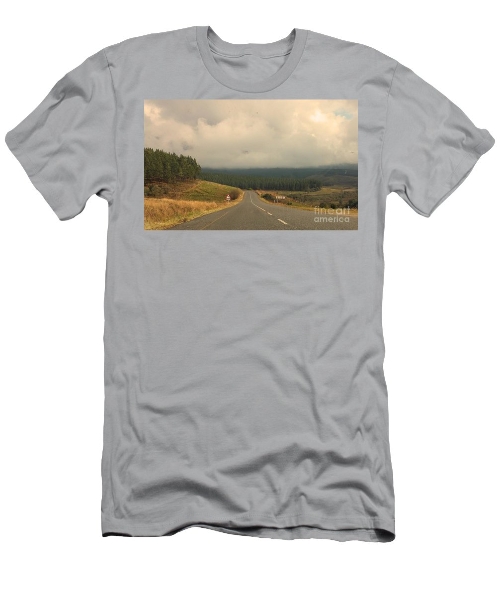 Road Men's T-Shirt (Athletic Fit) featuring the photograph Road Trip by Lisa Byrne