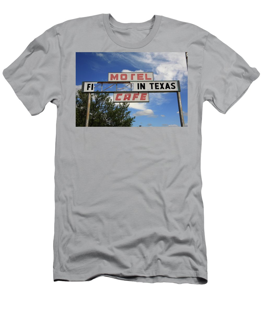 66 Men's T-Shirt (Athletic Fit) featuring the photograph Route 66 - Glenrio Texas by Frank Romeo