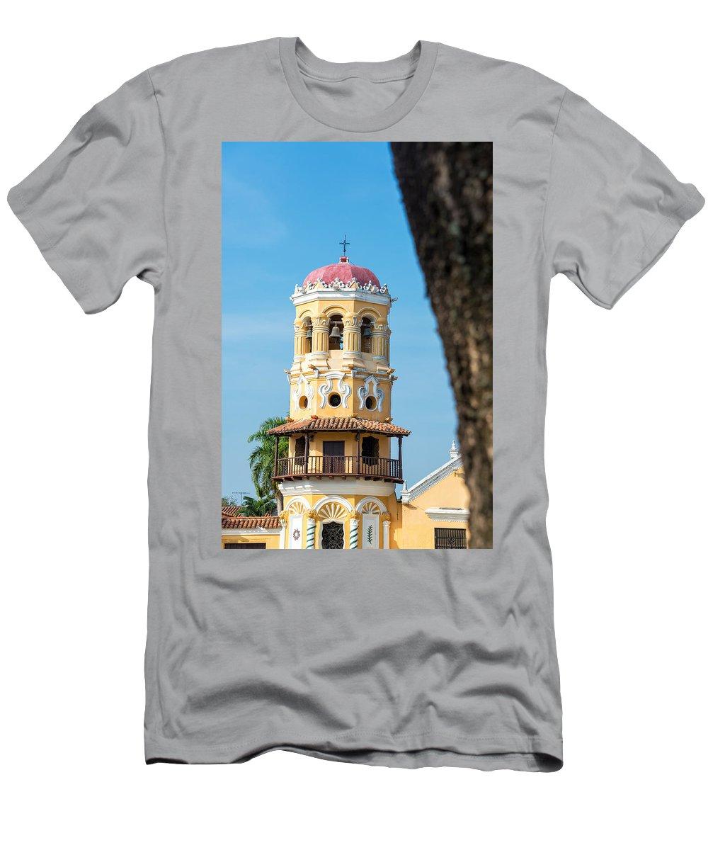 America Men's T-Shirt (Athletic Fit) featuring the photograph Santa Barbara Church by Jess Kraft