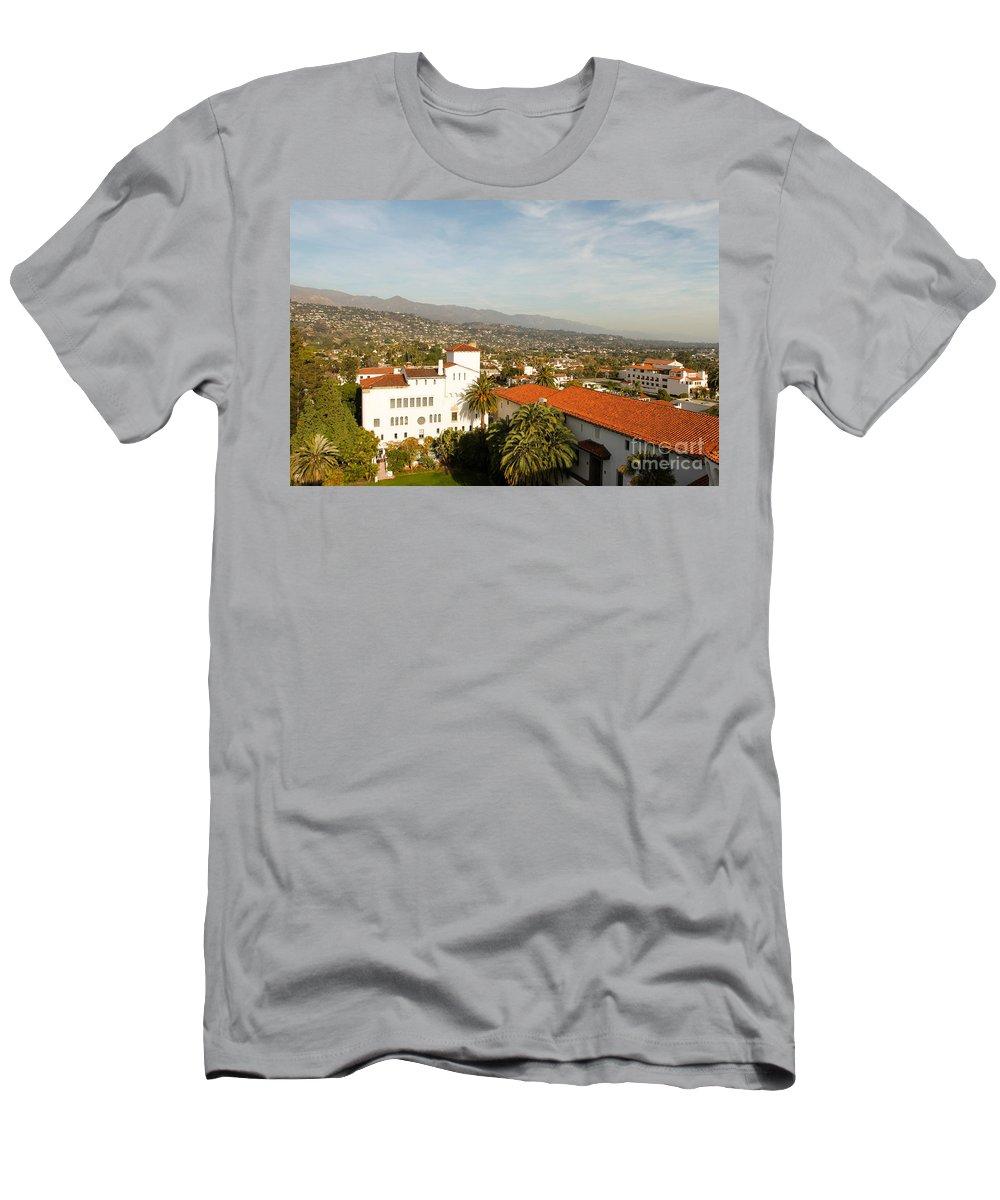 Santa Barbara Men's T-Shirt (Athletic Fit) featuring the photograph Santa Barbara by Henrik Lehnerer