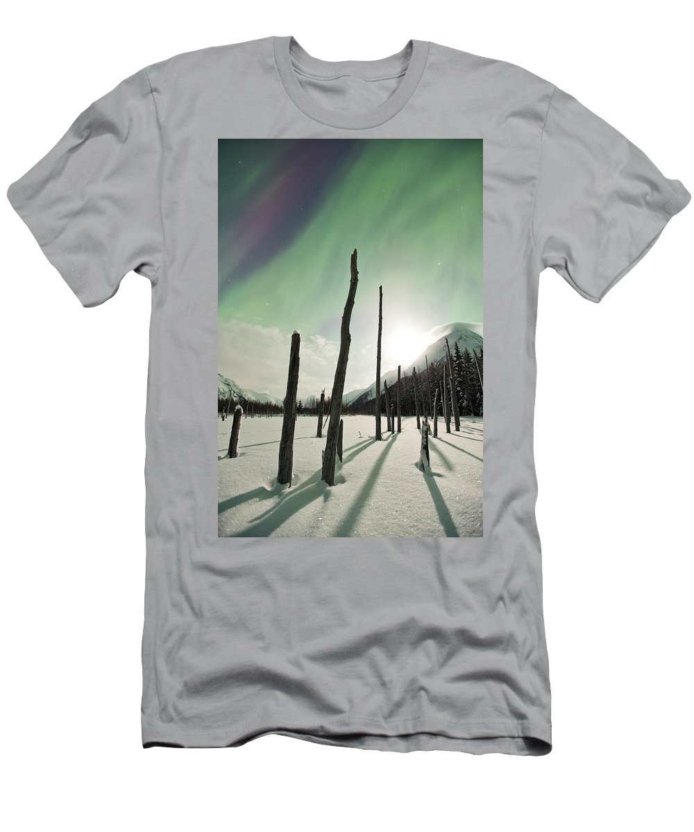 Aurora Men's T-Shirt (Athletic Fit) featuring the photograph Shadows by Ted Raynor