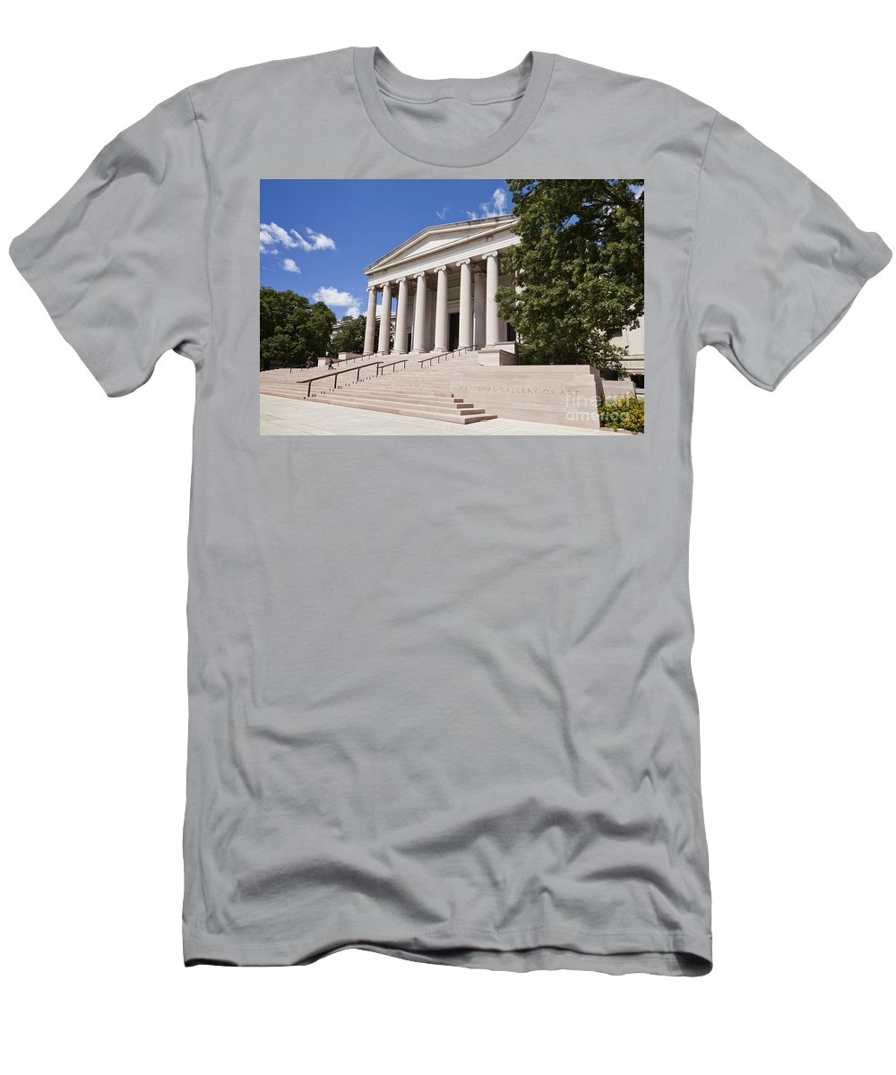 America Men's T-Shirt (Athletic Fit) featuring the photograph Smithsonian National Gallery Of Art by B Christopher