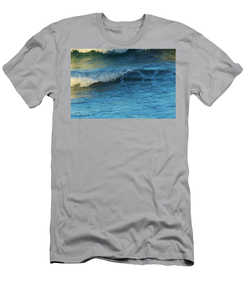 Ocean Men's T-Shirt (Athletic Fit) featuring the photograph Steps by Ian MacDonald