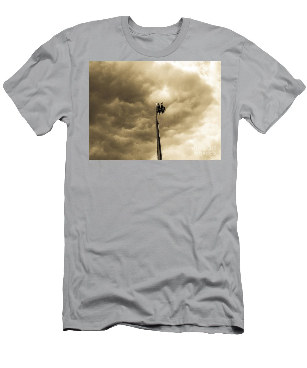 Midway Ride Men's T-Shirt (Athletic Fit) featuring the photograph Summer Fair-19 by David Fabian