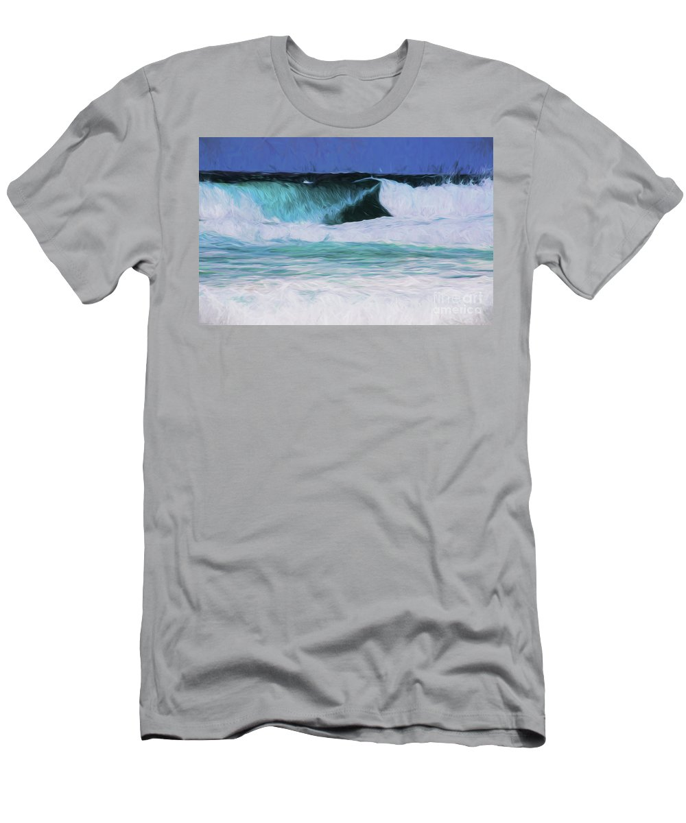 Surf T-Shirt featuring the photograph Surfs up by Sheila Smart Fine Art Photography