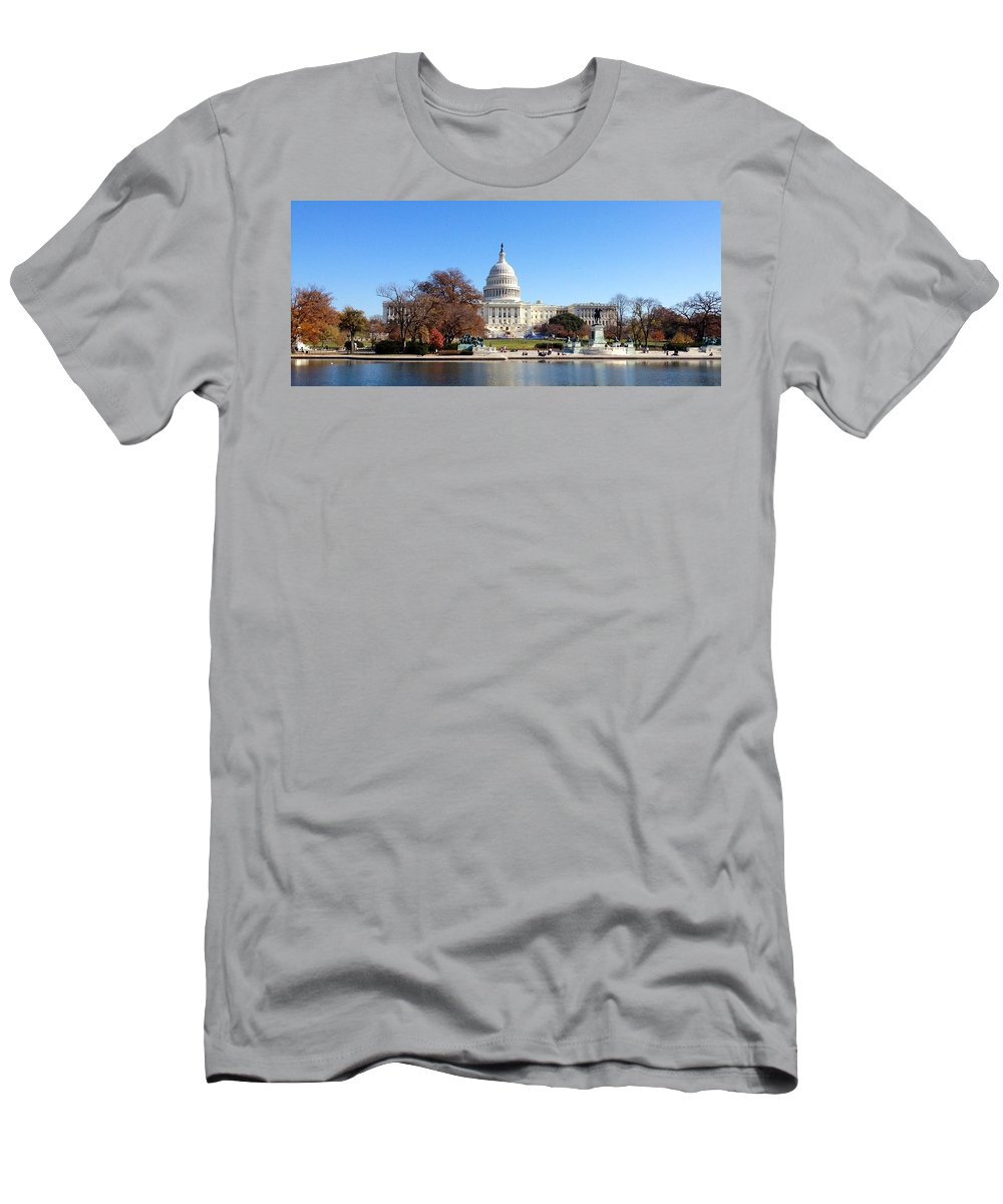The Capitol Building Men's T-Shirt (Athletic Fit) featuring the photograph The Capitol by Lois Ivancin Tavaf