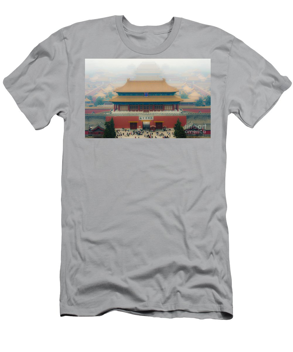 Asia Men's T-Shirt (Athletic Fit) featuring the photograph The Meridian Gate by John Shaw