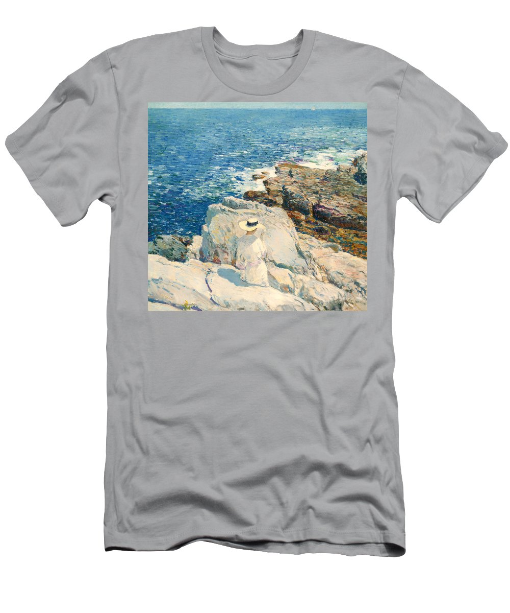 Painting Men's T-Shirt (Athletic Fit) featuring the painting The South Ledges Appledore by Mountain Dreams