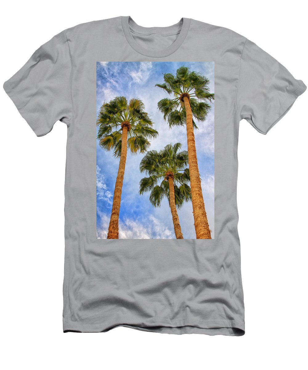 Palm Springs T-Shirt featuring the photograph THREE PALMS Palm Springs by William Dey