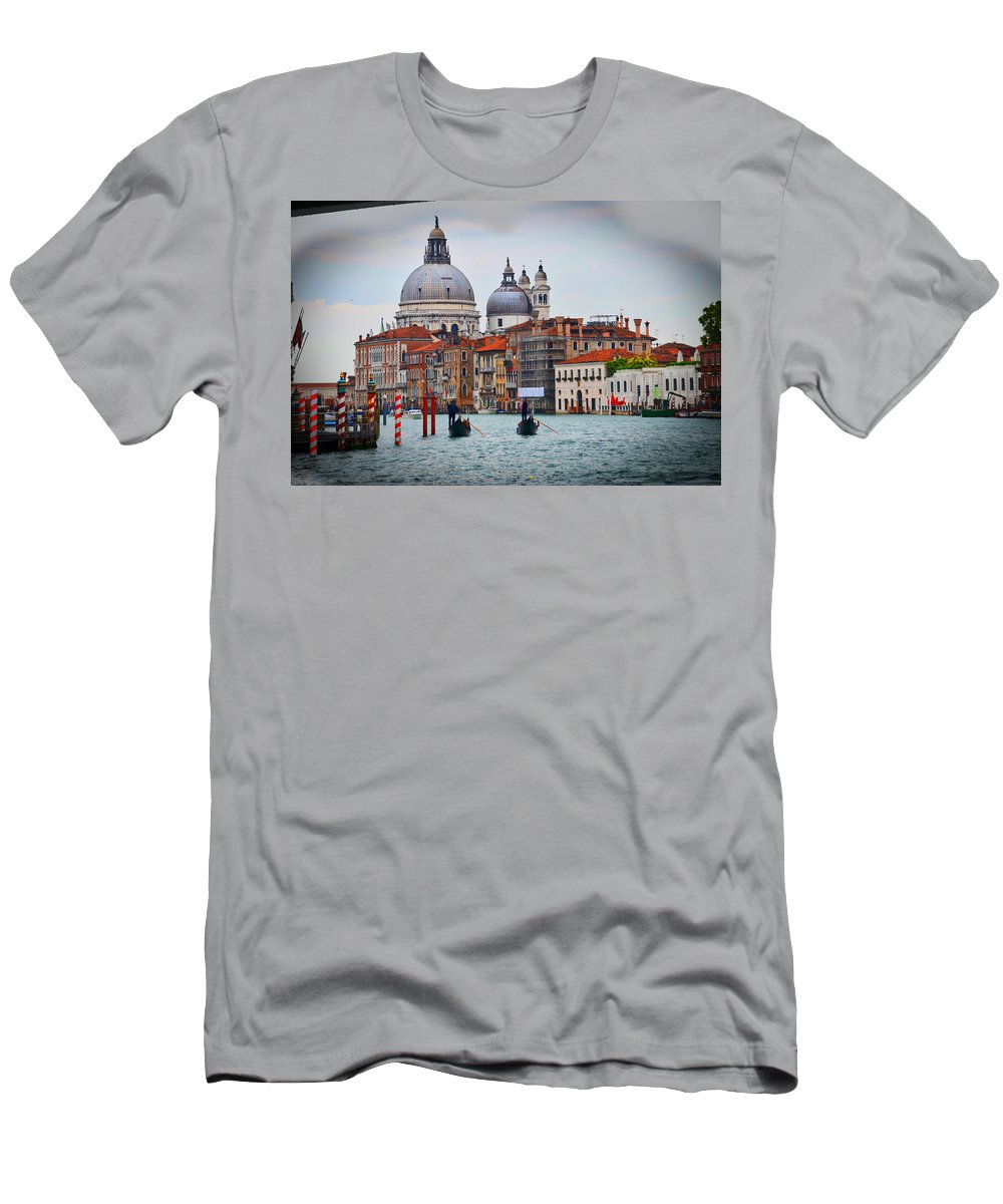 Men's T-Shirt (Athletic Fit) featuring the photograph Venice Italy by Burt Finkelstein