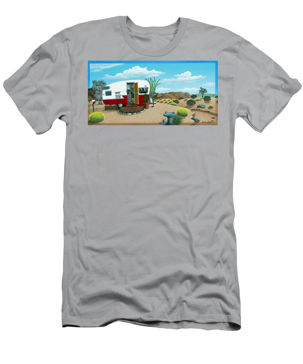Trailer T-Shirt featuring the painting Waiting on a Friend by Snake Jagger