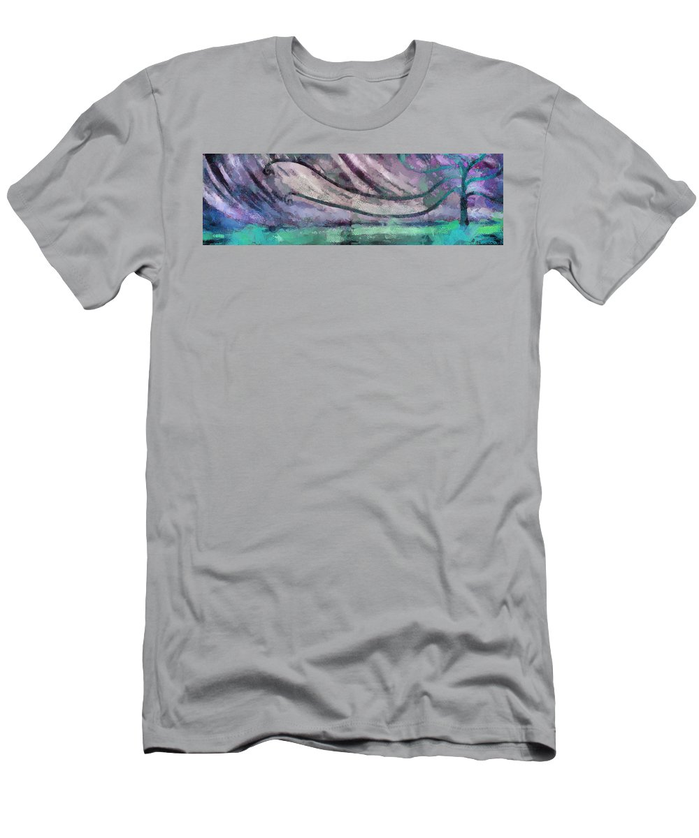World Men's T-Shirt (Athletic Fit) featuring the mixed media Water World 3 by Angelina Vick