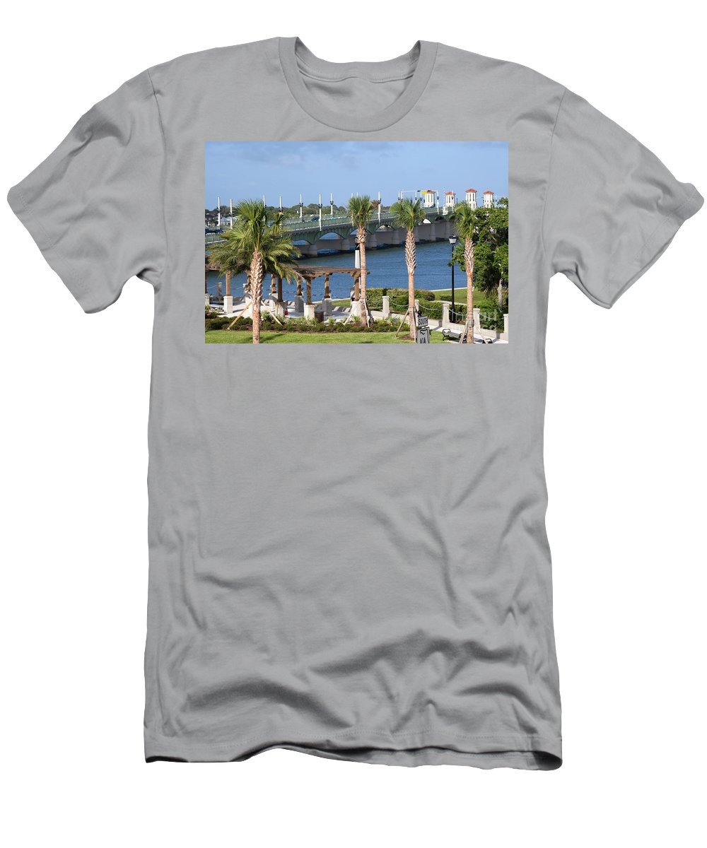 Florida Men's T-Shirt (Athletic Fit) featuring the photograph Waterfront Park St Augustine Florida by Bill Cobb