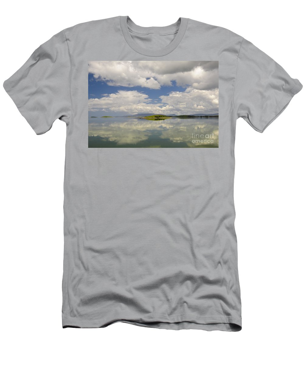 County Mayo Men's T-Shirt (Athletic Fit) featuring the photograph Westport Bay by John Shaw