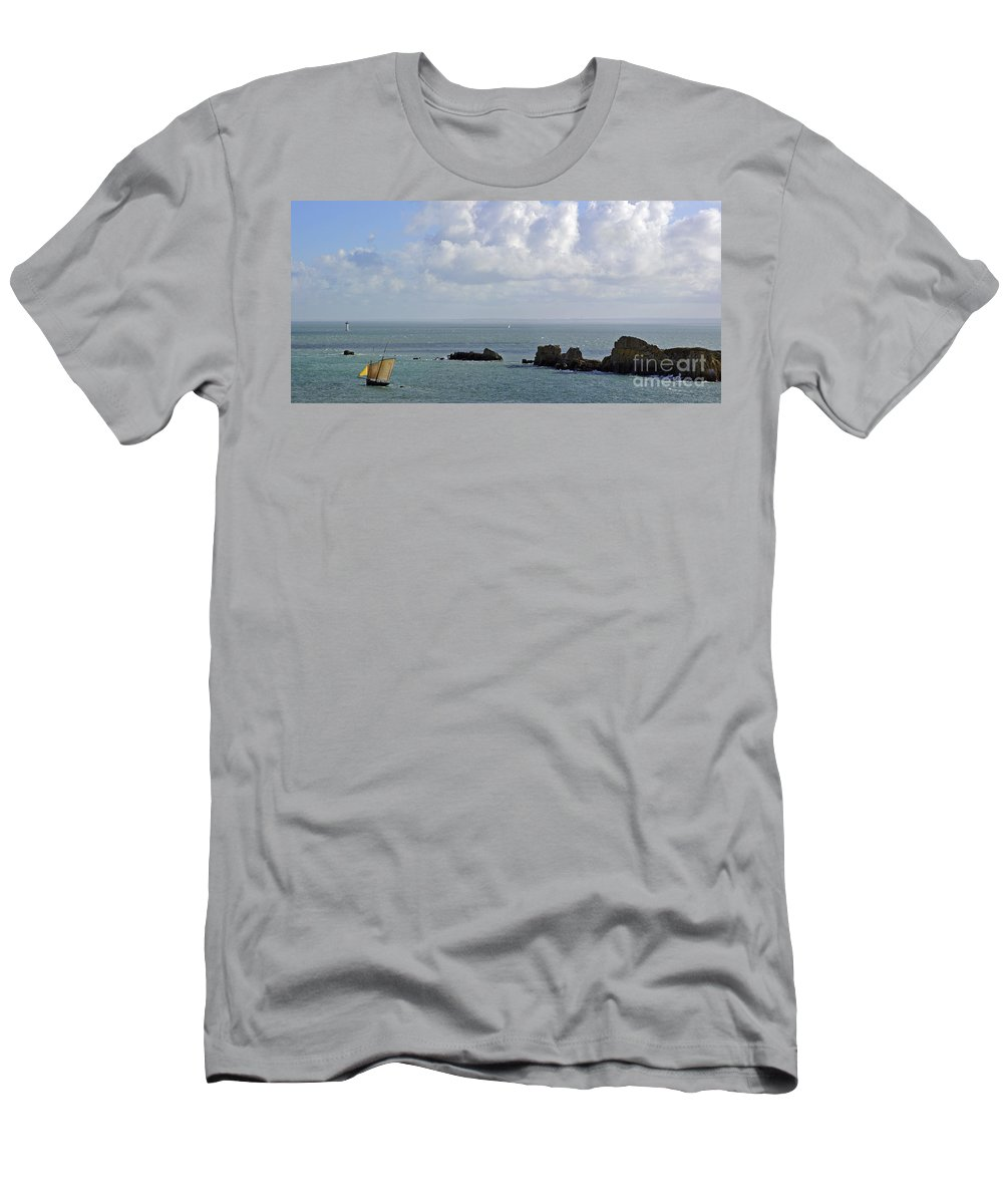 Sailing Boat Men's T-Shirt (Athletic Fit) featuring the photograph 110202p119 by Arterra Picture Library