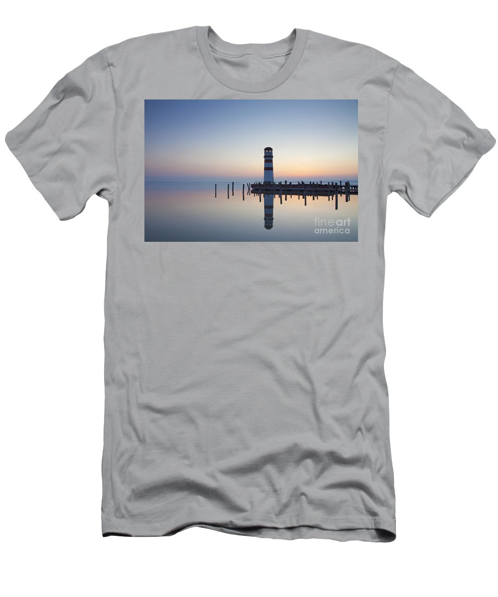Lighthouse Men's T-Shirt (Athletic Fit) featuring the photograph 110613p194 by Arterra Picture Library