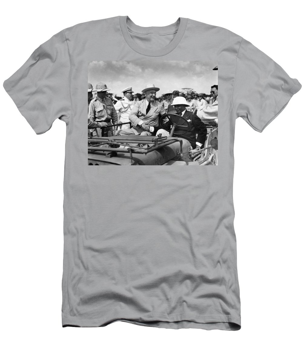 1943 Men's T-Shirt (Athletic Fit) featuring the photograph Franklin D by Granger