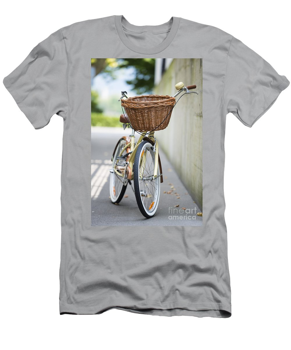 Bicycle Men's T-Shirt (Athletic Fit) featuring the photograph Bicycle by Mats Silvan