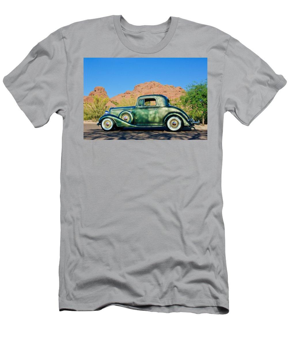 1933 Pontiac Men's T-Shirt (Athletic Fit) featuring the photograph 1933 Pontiac -0008c by Jill Reger