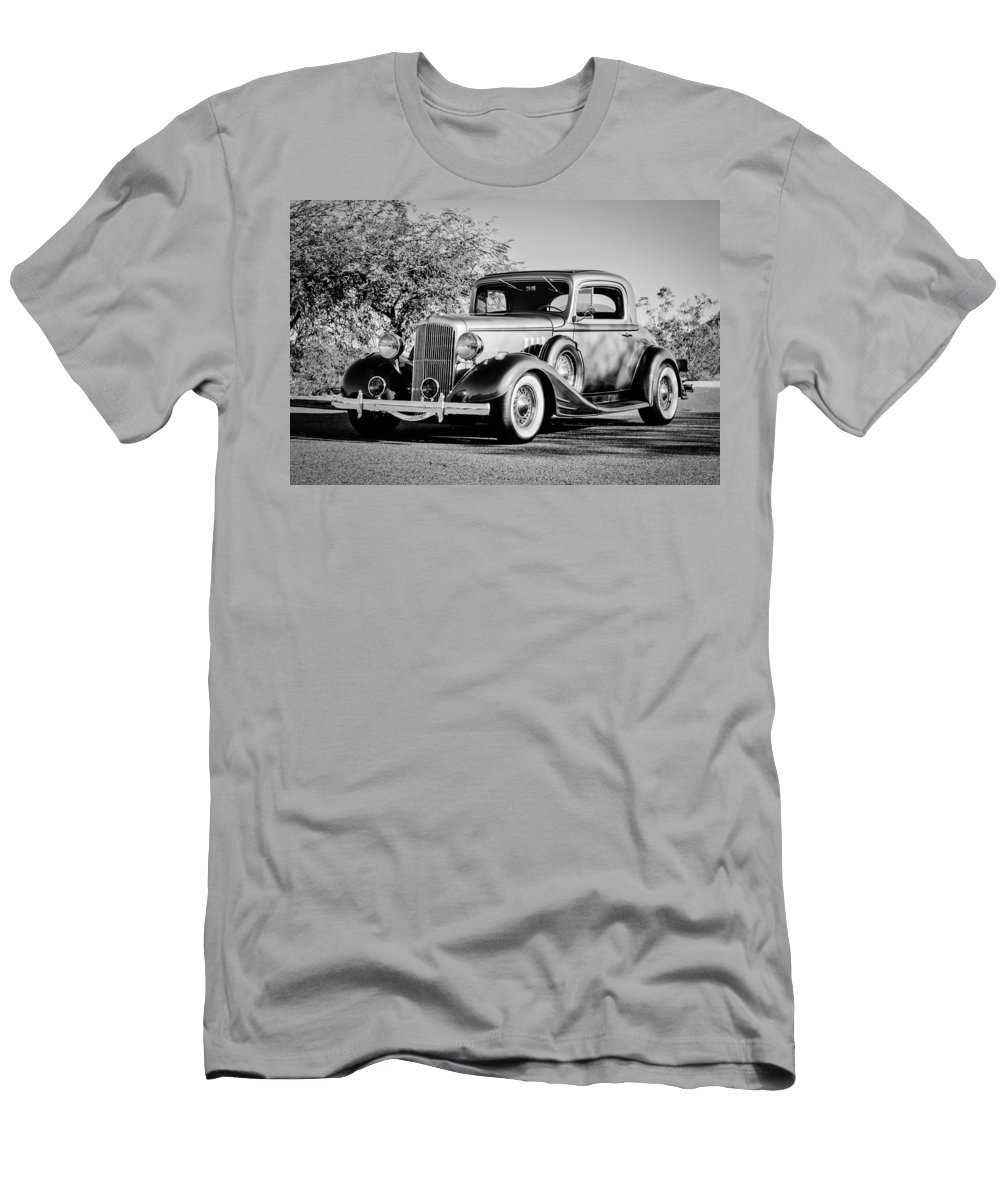 1933 Pontiac Men's T-Shirt (Athletic Fit) featuring the photograph 1933 Pontiac -0011bw by Jill Reger