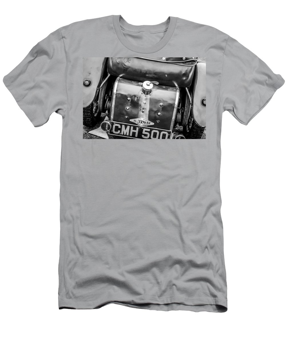 1935 Frazer Nash Tt Replica Shelsley Men's T-Shirt (Athletic Fit) featuring the photograph 1935 Frazer Nash Tt Replica Shelsley -0223bw by Jill Reger