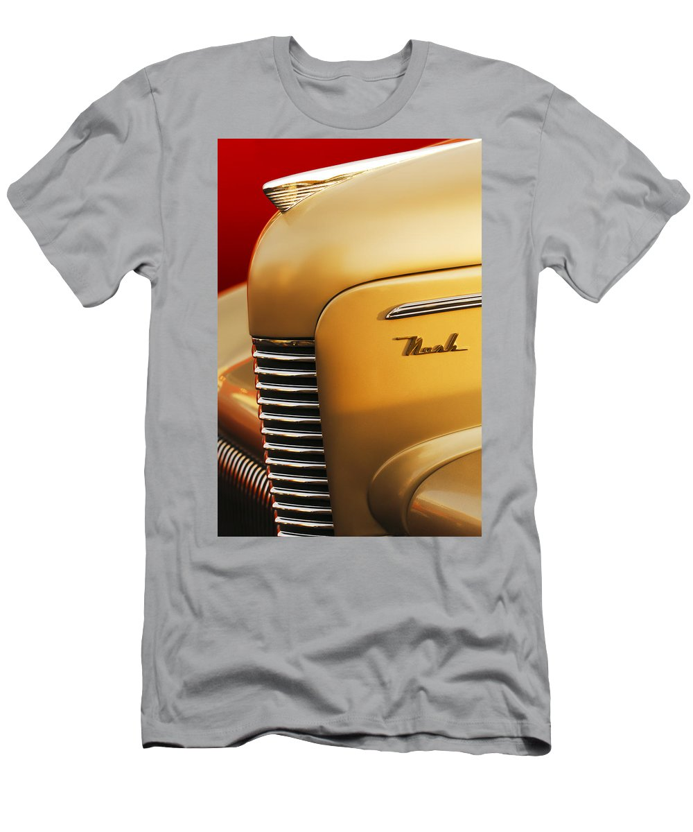 1940 Nash Sedan Grille Men's T-Shirt (Athletic Fit) featuring the photograph 1940 Nash Sedan Grille by Jill Reger