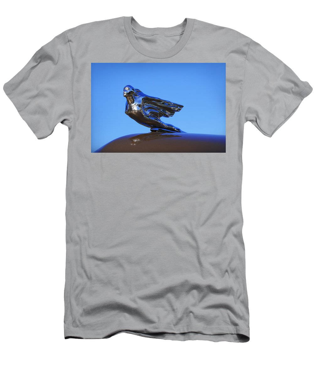 Men's T-Shirt (Athletic Fit) featuring the photograph 1941 Cadillac Series 62 Coupe Hood Ornament by Gordon Dean II