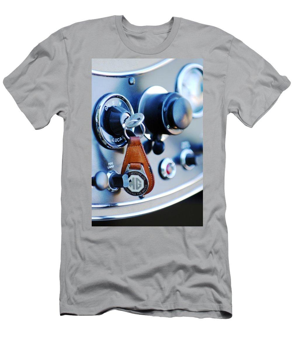 1948 Mg Tc Key Ring Men's T-Shirt (Athletic Fit) featuring the photograph 1948 Mg Tc Key Ring by Jill Reger
