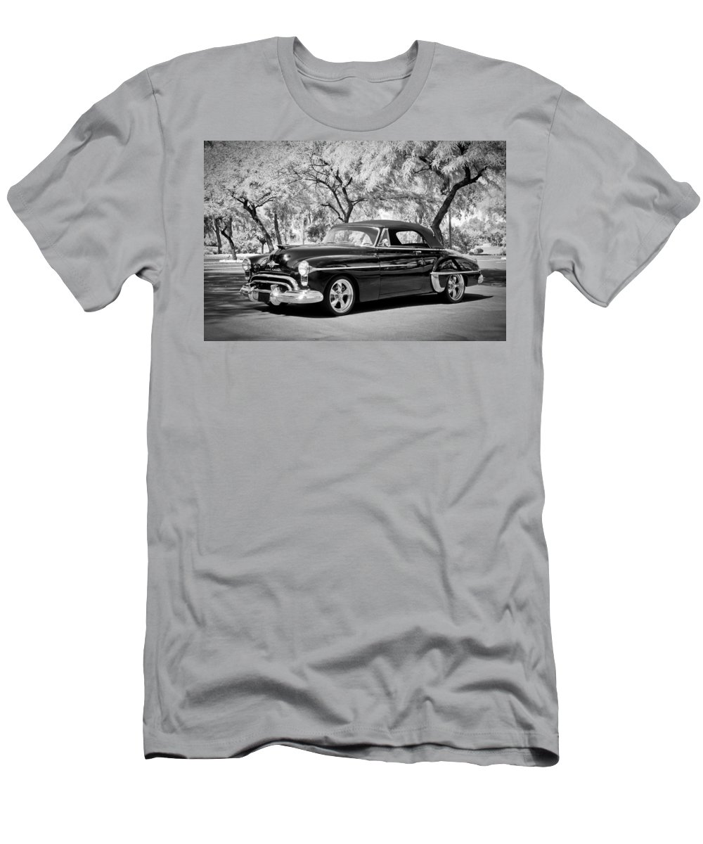 1950 Oldsmobile 88 Men's T-Shirt (Athletic Fit) featuring the photograph 1950 Oldsmobile 88 -004bw by Jill Reger