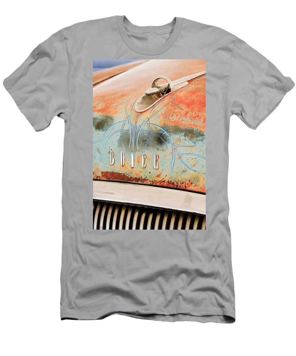 1954 Buick Special Hood Ornament Men's T-Shirt (Athletic Fit) featuring the photograph 1954 Buick Special Hood Ornament by Jill Reger