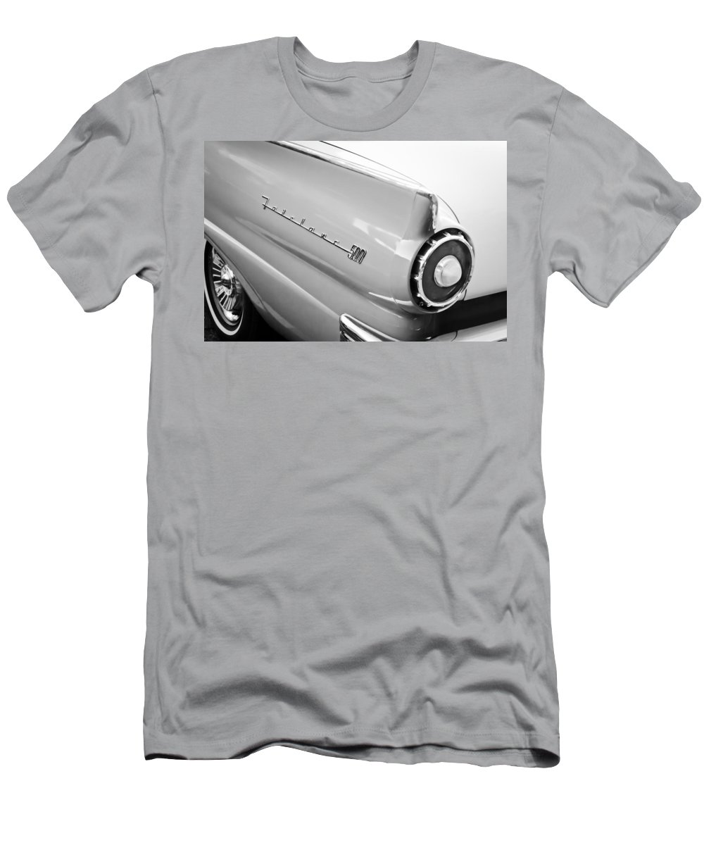 1957 Ford Fairlane 500 Taillight Emblem Men's T-Shirt (Athletic Fit) featuring the photograph 1957 Ford Fairlane 500 Taillight Emblem by Jill Reger